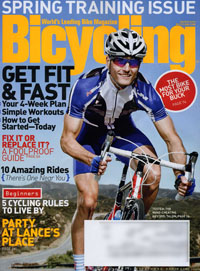 Bicycling magazine, March 2010