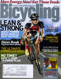 Bicycling magazine, October 2009