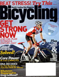 Bicycling magazine, Sept. 2009