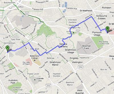 Google bike map