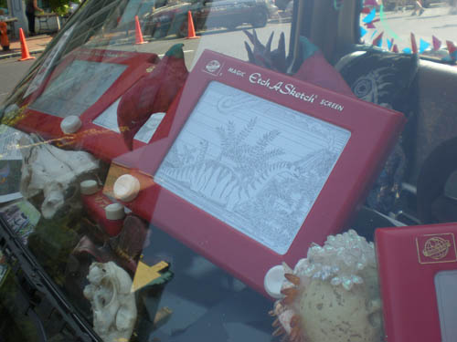 KY art car - Etch a sketch